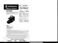 Buy Hitachi VM8400LA Service Manual by download Mauritron #291015