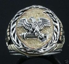 Buy Roman Eagle SPQR signet ring Sterling Silver Lge