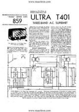Buy ULTRA T401 Wireless Service Sheets by download Mauritron #328990