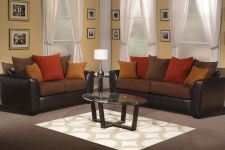 Buy Leo Sofa & Love Seat 2 Piece Living room Set #F7940B POUNDEX