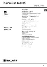 Buy Hotpoint AQUALTIS AQGMD-129 Washer Operating Guide by download Mauritron #307475