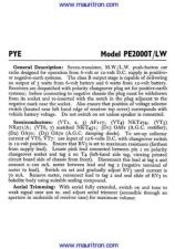 Buy PYE PE2000T-LW Vintage Service Information by download Mauritron #326987