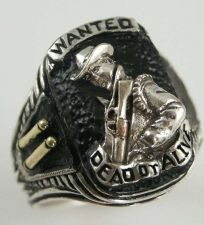 Buy Bounty Hunter ring Wanted Dead or Alive Sterling Silver lge