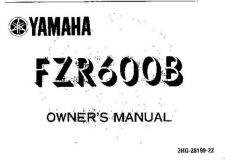 Buy Yamaha 3HG-28199-22 Motorcycle Manual by download #334115