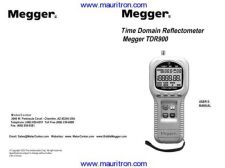 Buy Megger TDR2000 Test Equipment Instruction Operating Guide Manual by download Mauritro