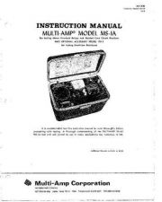 Buy Biddle MS-1A Operating Guide by download #335912