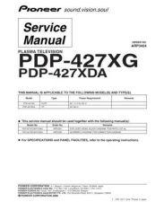 Buy Panasonic PDP-427XG-DLFR[1] Manual by download Mauritron #300897