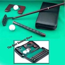 Buy Portable Cherry Wood Golf Putter Travel Practice Putting Set with Case Indoor