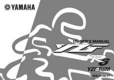 Buy Yamaha 5EB-28199-21 Motorcycle Manual by download #334394