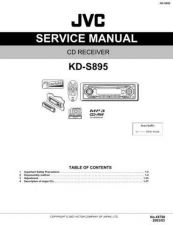 Buy JVC KD-S895 part Service Manual by download Mauritron #282225