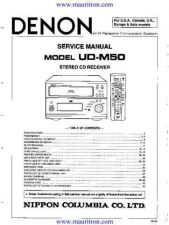Buy Denon UDM50 Receiver Service Manual by download Mauritron #325813