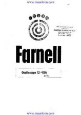 Buy FARNELL. 12-4DA. Service and Operating by download Mauritron #327451