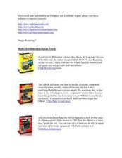 Buy Casio EV2500B Television Service Manual by download Mauritron #321728