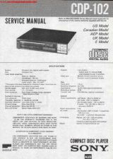 Buy Sony CDP-102 Compact Disc Service Manual by download Mauritron #337978