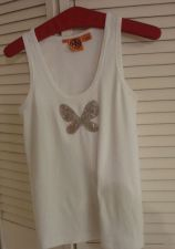Buy Tory Burch BUTTERFLY M Tank Top Shirt With Large Butterfly Cotton Long White M