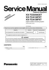 Buy Panasonic KX-TCD320CET Manual by download Mauritron #300145