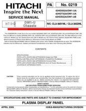 Buy Hitachi 42HDT52A-DW1-UA-42HDX62ADW1-UA Service Manual by download Mauritron #287918