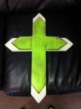 Buy Custom Crafted Wall Cross from Mississippi \Wooden rendy/ decor/shabby chic