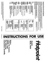 Buy Hotpoint RC50 Refrigeration Operating Guide by download Mauritron #313887