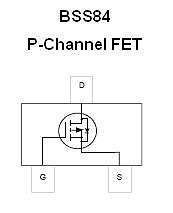 Buy SMT FET - BSS84 P-Channel, Small-Signal Amplifier (SOT-23) - 16 Pieces