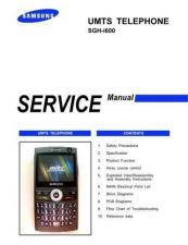 Buy Samsung SGH-i600 Mobile Phone Service Manual by download Mauritron #306371