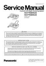 Buy Panasonic FT936_938HG_71 Manual by download Mauritron #299406