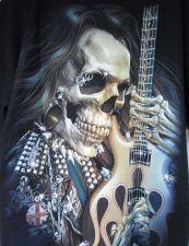 Buy Rocker Skull Vampire Streetwear T shirt Men Women Electric Guitar Black L New