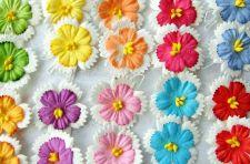Buy 20 CUTE MINI MULBERRY PAPER FLOWERS ARTIFICIAL CRAFT EMBELLISHMENT WEDDING 3 CM