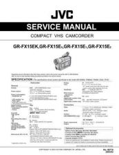 Buy JVC GR-FX15E Service Manual by download Mauritron #279296