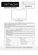 Buy Hitachi 42HDM12 Service Manual by download Mauritron #287899