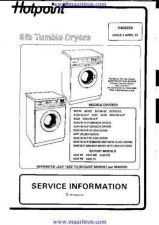 Buy Hotpoint 9334A Dryer Manual by download Mauritron #325842