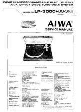 Buy AIWA. LP3000. TURNTABLE. SERVICE MANUAL. by download Mauritron #329167