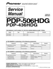 Buy Panasonic PDP-506HDG (2) Manual by download Mauritron #301154