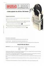 Buy Eumig R-2000 Projector Operating Guide by download Mauritron #307081