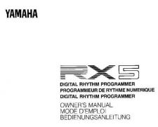 Buy Yamaha RX5F. Operating User Instruction Guide by download Mauritron #330240