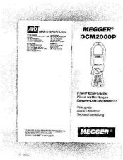Buy Megger DCM2000P Operating Guide by download #336188