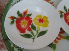 "Buy Enamelware New Dish Pan Plate 9""dia Small Tray Red Yellow Floral Decor Dinnerwar"