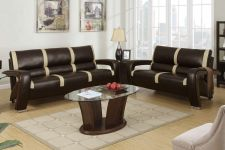 Buy Sofa & Love Seat Genuine Bonded Leather Living room Set 2 Pc Sofa Loveseat Couch