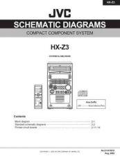 Buy JVC HX-Z3UW sch1 Service Manual by download Mauritron #281698