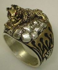 Buy HOG Motorcycle Mens Flame ring Sterling Silver Ruby Lge.
