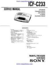 Buy Sony ICF5500M Manual by download Mauritron #315820