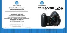 Buy Konica Dimage Z6 Camera Operating Guide by download Mauritron #329561