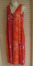 Buy Jams World Maxi Dress S 6 8 Tropical Sleevless WEARABLE ART Hawaiian S 6 8