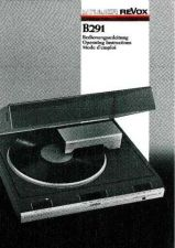 Buy Revox B291 Operating Guide by download Mauritron #312244