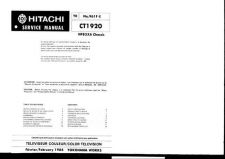 Buy Hitachi CT1923 Service Manual by download Mauritron #285000