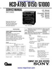 Buy Sony HCD-A190-D150-G1000 Service Manual by download Mauritron #327098