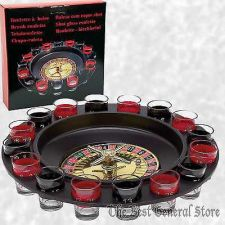 Buy 16-Shot Roulette Wheel Adult Party Game Bar Drinking Set Camping