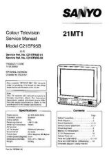 Buy Sanyo. Service Manual For 21MT1 SM-Only by download Mauritron #329896