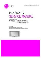 Buy LG 42PX4RV Service Manual by download Mauritron #322483