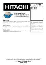 Buy Hitachi CML151XJ- Service Manual by download Mauritron #288999